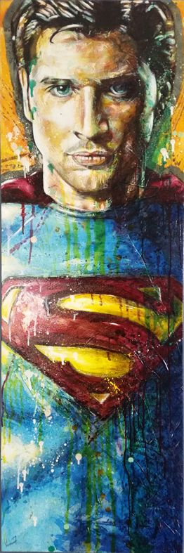 """""""Growing up Kent"""" by Vernon Fourie. Oil&Acrylic on Canvas. Superman Smallville TomWelling Popart Painting"""
