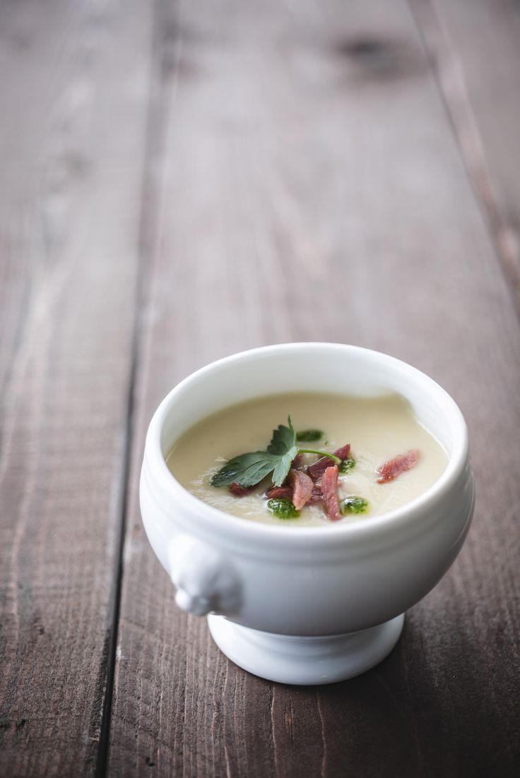Recept soep van peterseliewortel met kalkoensnippers
