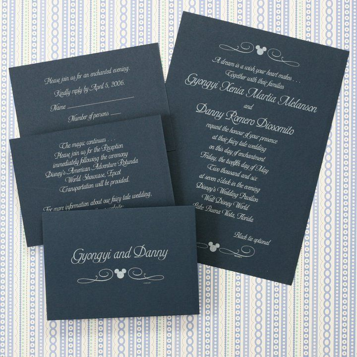 17 Best Ideas About Disney Wedding Invitations On