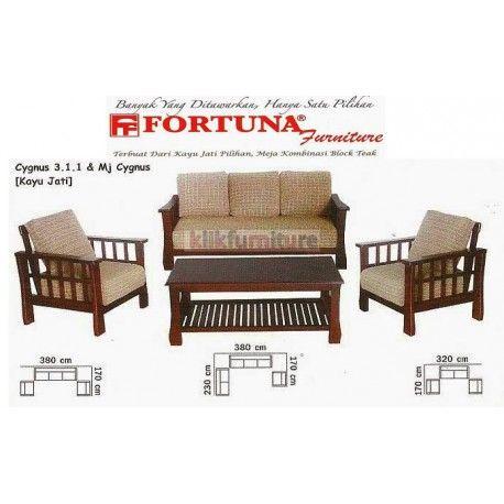 Harga Sofa Fortuna Cygnus 311 Condition:  New product  Sofa Jati Tipe Cygnus dengan dudukan 311 dan meja cygnus Terbuat dari kayu jati pilihan, meja kombinasi block teak