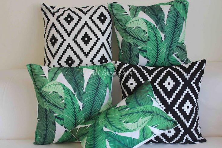 "Vintage Tommy Bahama Swaying Palms Outdoor CUSHION COVER Throw PILLOW CASE 18"" #Unbranded                                                                                                                                                                                 More"