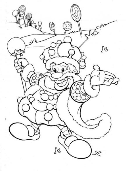 candyland king candy coloring page