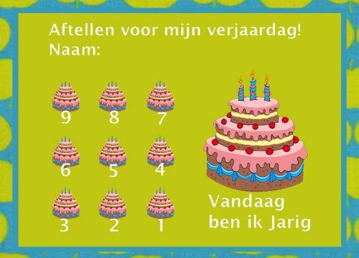 aftelkalender verjaardag 1 - gratisbeloningskaart.nl