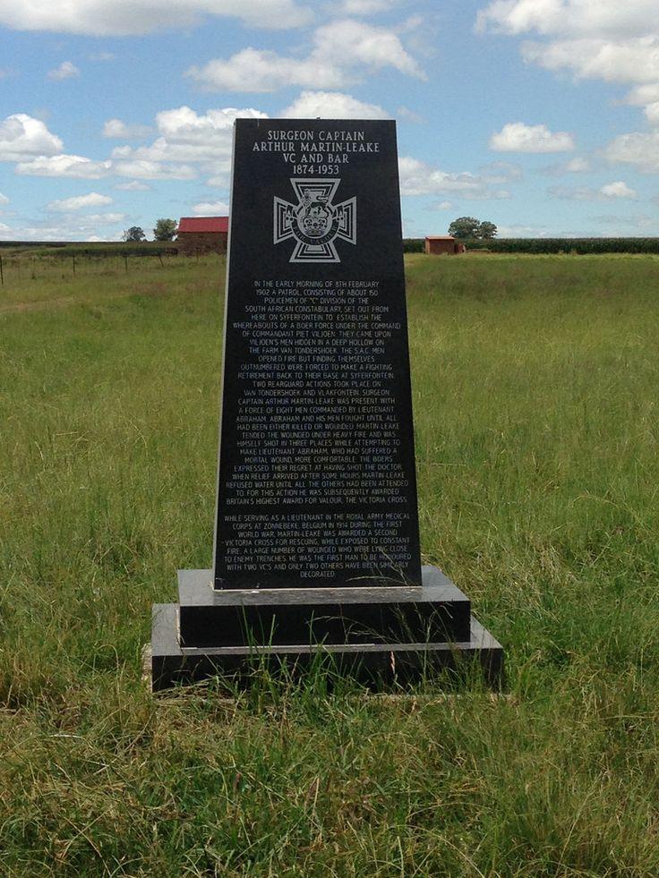 Captain Surgeon Arthur Martin-Leake, VC and Bar. Anglo Boer War Memorial- photo by Hennie Rautenbach | Flickr - Photo Sharing! https://www.flickr.com/photos/hennie_rautenbach/13954103323/in/set-72157644186100733