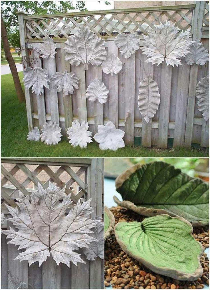 25 best ideas about feuilles en b ton sur pinterest for Deco jardin en fonte