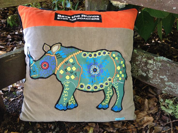 Jordans Rhino Cushion made with upcycled and recycled fabrics and WWF T-shirt...