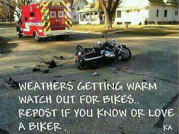 Watch out for bikes!!!