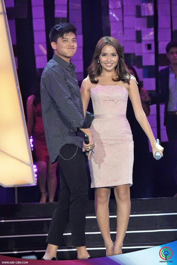 This is the handsome Daniel Padilla and the pretty Kathryn Bernardo smiling for the camera after their song medley as LizQuen and JaDine come up on stage with them during the production number of JaDine, LizQuen, and KathNiel during the 2015 ABS-CBN Christmas Special held at the Smart Araneta Coliseum last December 8, 2015. Indeed, KathNiel is my favourite Kapamilya love team, and they're amazing Star Magic talents. #KathNiel #KathNielBernaDilla #ABSCBNChristmasSpecial #ThankYoufortheLove