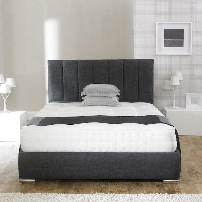 Andrea Fabric Upholstered Bed Frame - Luxury Fabric Beds - Beds.co.uk - The Bed Outlet