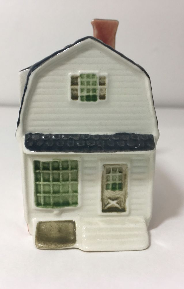 Royal Goedewaagen Delft Colonial Williamsburg Mini House Kings Arms Barber Shop  | eBay