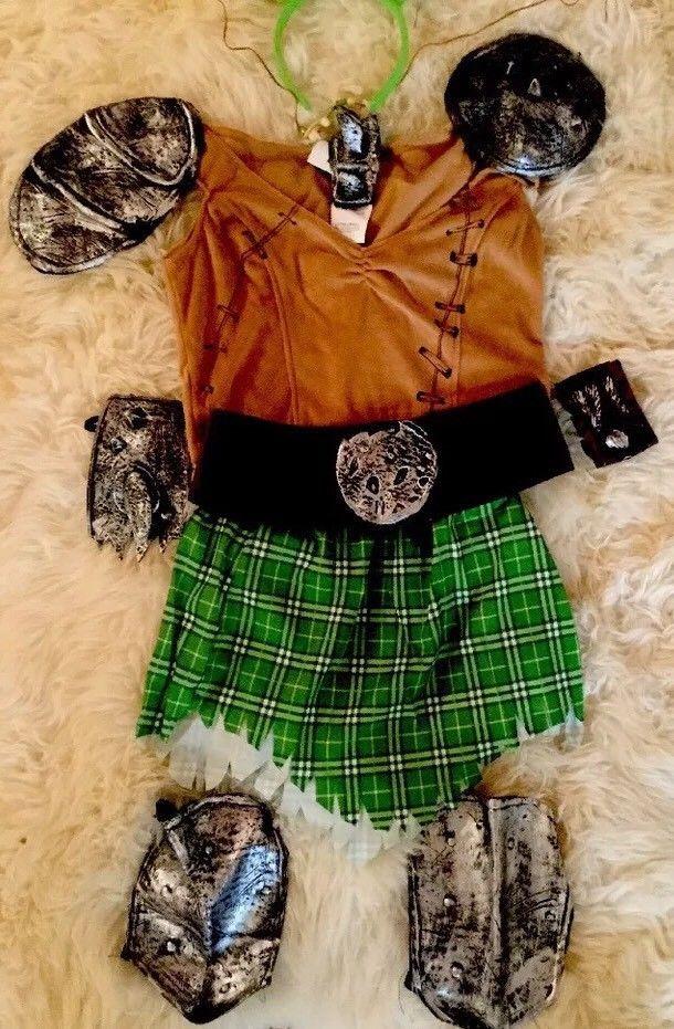 Princess Fiona Sz XS Warrior Costume (Shrek) 3 Pieces w/headpiece Secret Wishes  | eBay
