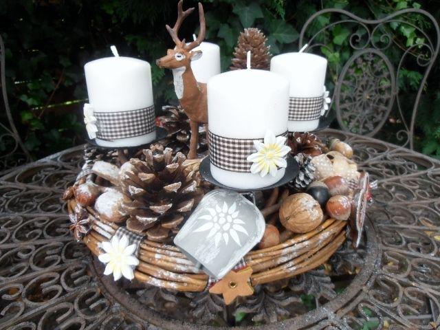 151 besten adventskranz adventsgesteck bilder auf pinterest weihnachtsdekoration. Black Bedroom Furniture Sets. Home Design Ideas