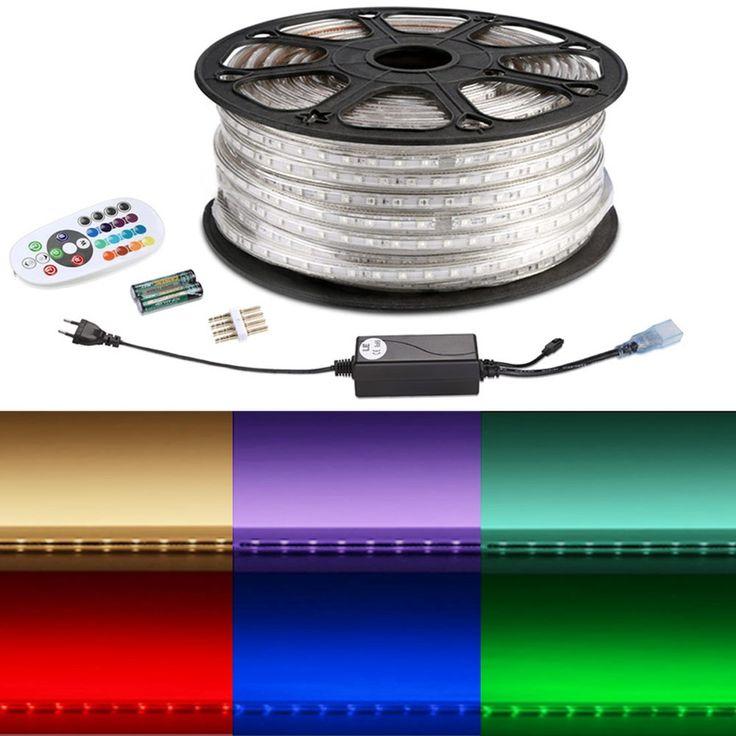 230V LED Lichtleiste RGB Set, Superhell: 60 x 5050 SMD LEDs pro Meter