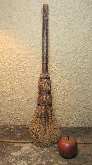 Grandma's Early Old Hand Made Primitive Hearth Broom http://www.rubylane.com/item/497177-9168/Grandmax92s-Early-Hand-Made-Primitive #RubyLane #Primitives