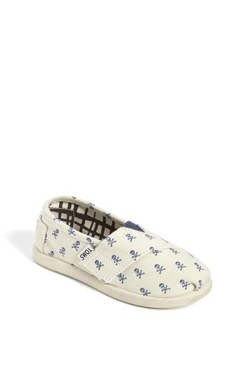 TOMS 'Rogue - Tiny' Slip-On: Baby Toms, Kids Toms, Skull Toms, Baby Boys, Toms Rogues, Baby Walkers, Discount Toms, Pink Toms, Pink Skull