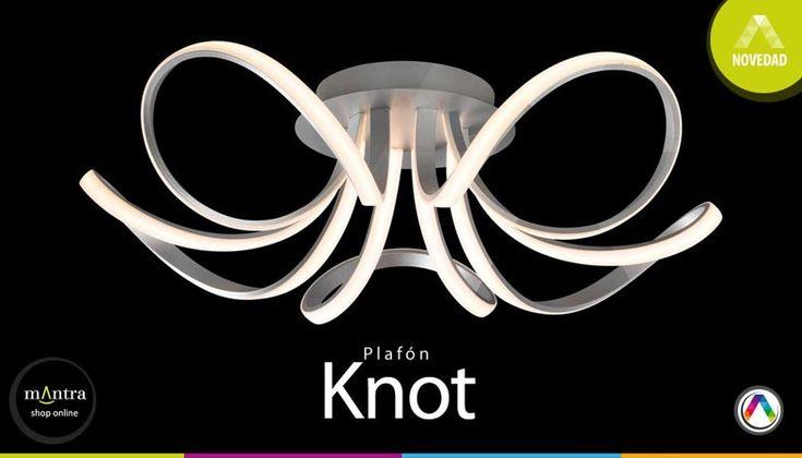 Top 5 Novedades en lámparas plafón de techo - Plafón knot - La Casa de la Lámpara