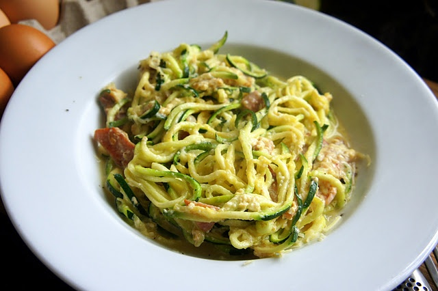 "paleo ""pasta"" (courgette is zucchini). We are going to have zucchin..."