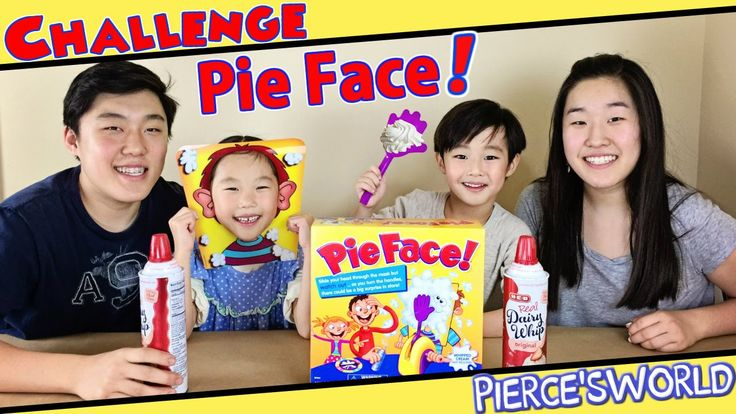 Best Funniest PIE FACE Game Challenge Ever taken a pie to the face? Pierce has! 5X in a row!!! Check out his newest most funniest video yet with his cousins! Pie Face Game Challenge, Boys vs Girls edition. Please LIKE, SHARE, and SUBSCRIBE!