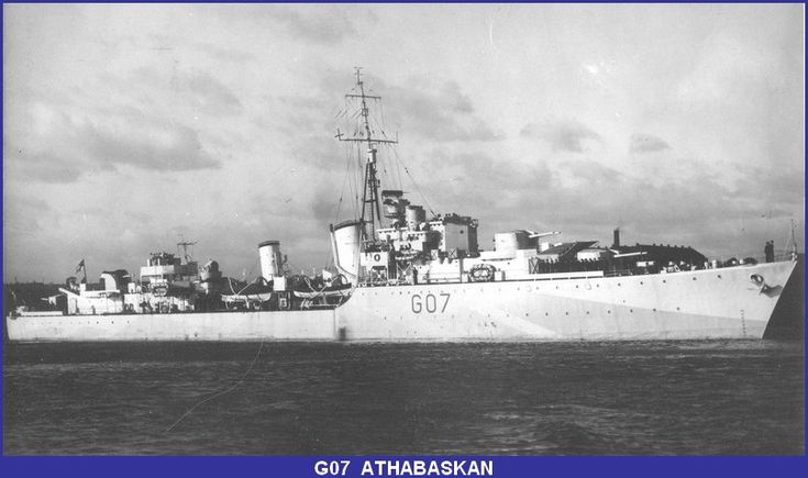 HMCS Athabaskan (GO 7) was a Tribal class destroyer, that served in the Second World War. She was torpedoed in the English Channel and sunk in 1944.