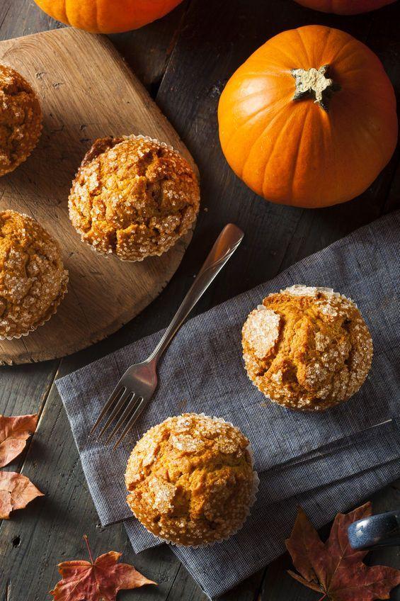 homemade simple pumpkin muffins
