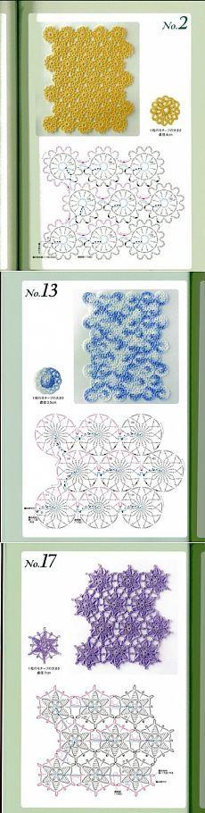 Вязание мотивов без отрыва нити, схемы / Вязание крючком / Вязание крючком для начинающих