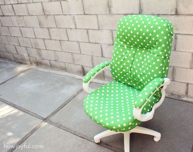 Desk Chair Transformation Ohh How I Love Polka Dots