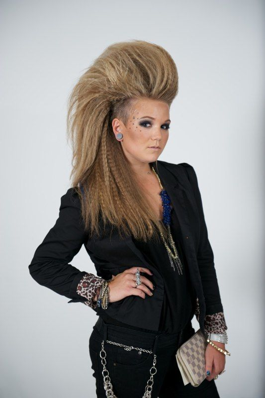 Rocker City Girl. Hair & Outfit: Katie Swartout. MUA: Lacey Swift. Model: Jessica Hoesly. FormPhotography.