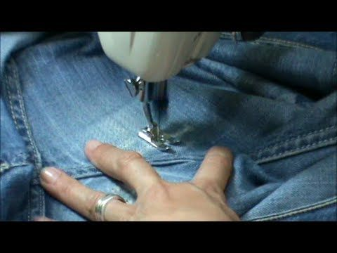 Zurcir o remendar un pantalón vaquero - YouTube Mending tears and darning on jeans.