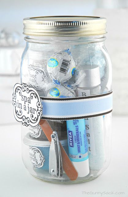 I would love to get a spa in A jar!  Great homemade gift idea.
