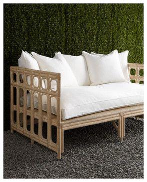 Faux Bamboo Outdoor Sofa eclectic outdoor sofas