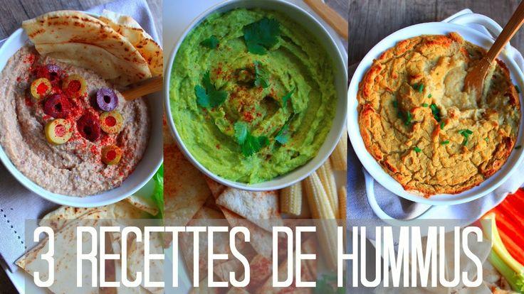 HUMMUS | 3 Recettes Sans Huile & Vegan