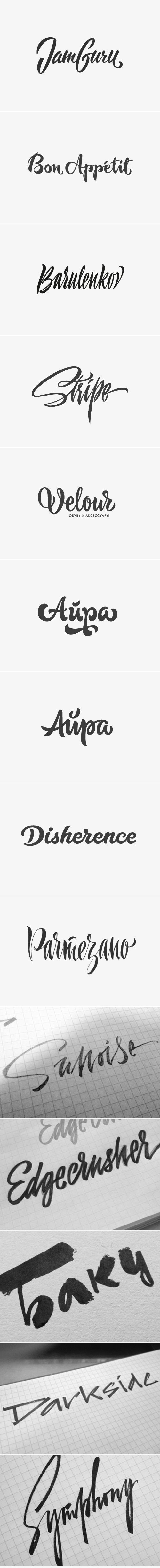 Logo (lettering and Calligraphy) by Аnton Barulenkov, via Behance