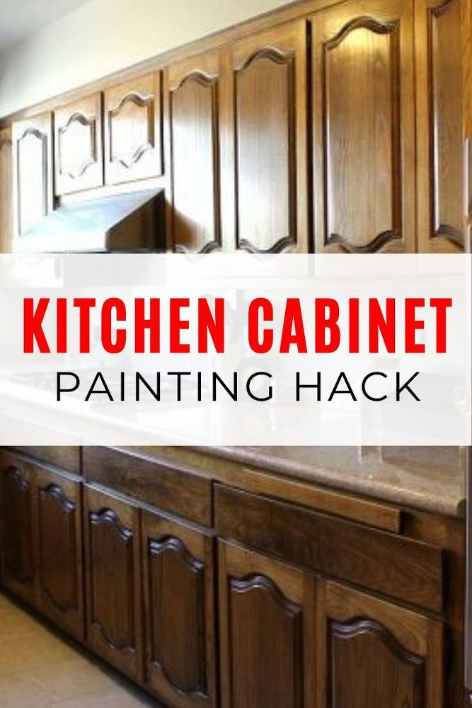 Diy How To Paint Kitchen Cabinets Without Sanding Kitchen Cabinets Dark Wood Cabinets Painting Cabinets