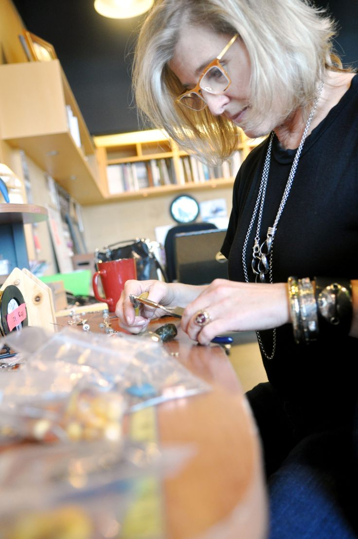 Langley jewelry designer puts women to work.  There's more to Karyn Chopik's jewelry than just stones placed in metal.
