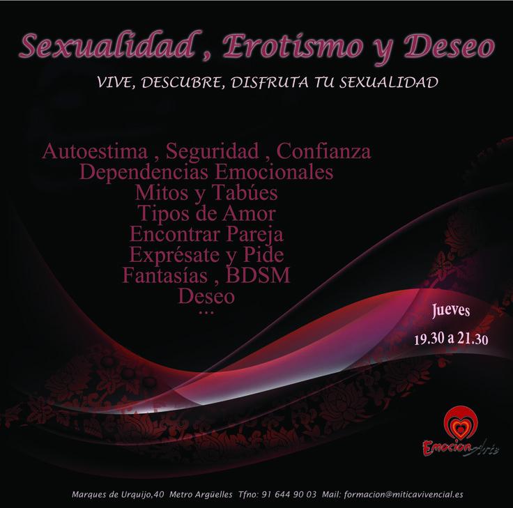 """Todos los Jueves de 19.30 a 21.30  Comenzamos el 26 de ENERO con  AUTOESTIMA """"El Amor comienza por quererse a uno mismo""""  La autoestima es la base de una sexualidad sana y una sexualidad sana es imprescindible para un desarrollo personal completo.  Si no nos amamos y aceptamos tal como somos, difícilmente podremos disfrutar de nuestra vida sexual plenamente. http://www.escuelatantrica.com/sexualidad-sexcoaching.html"""