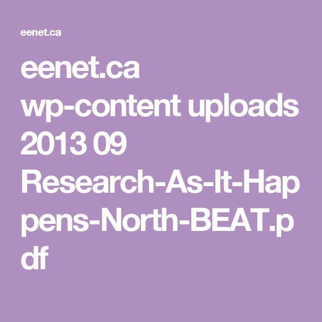 EENet: Research as it Happens, NorthBEAT