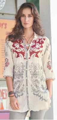 Sundance Embroidered Cotton Tunic