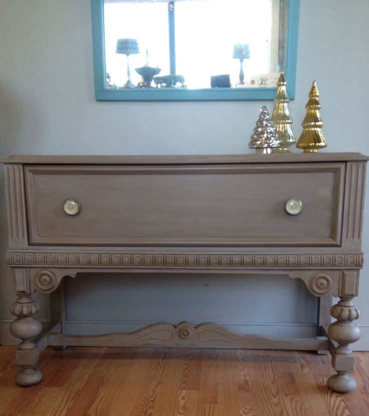 Coco Chalk Paint by Annie Sloan washed with Paris Grey