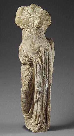 Statue of Aphrodite [Greek] (2006.509) | Heilbrunn Timeline of Art History | The Metropolitan Museum of Art | Socrates was a sculptor. #Greek #sculpture #Aphrodite #art