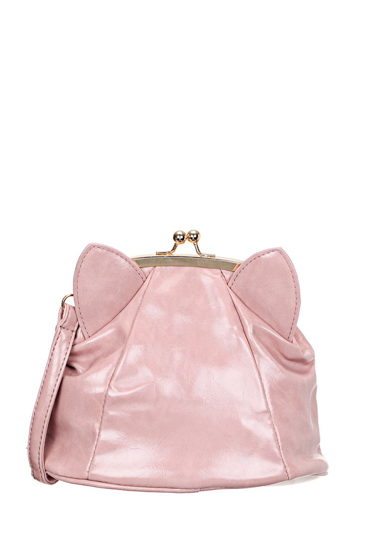 Sac bourse rose oreilles Kitty #pepaloves @monshowroom