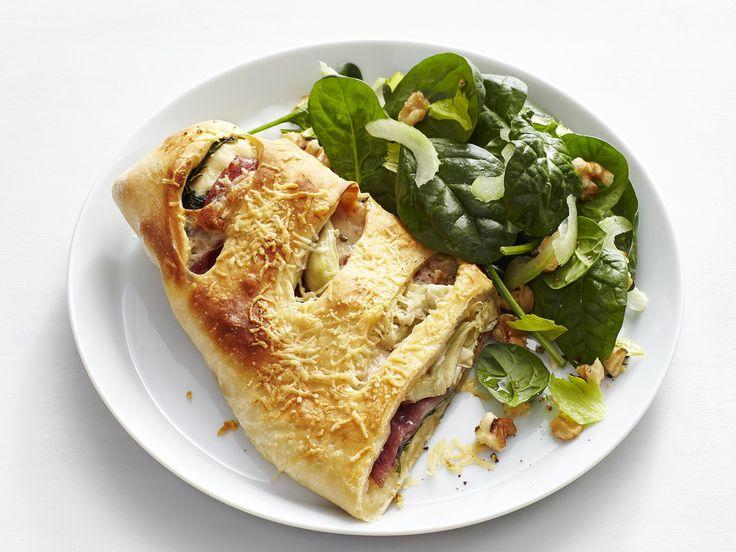 Artichoke-Salami Stromboli recipe from Food Network Kitchen via Food Network