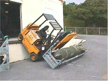 Forklift And a 2000 lb Bomb