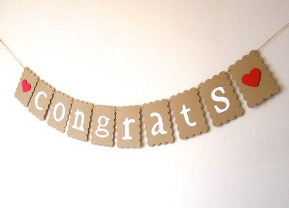 congrats banner congratulations banner kraft by JDooreCreations, $8.75