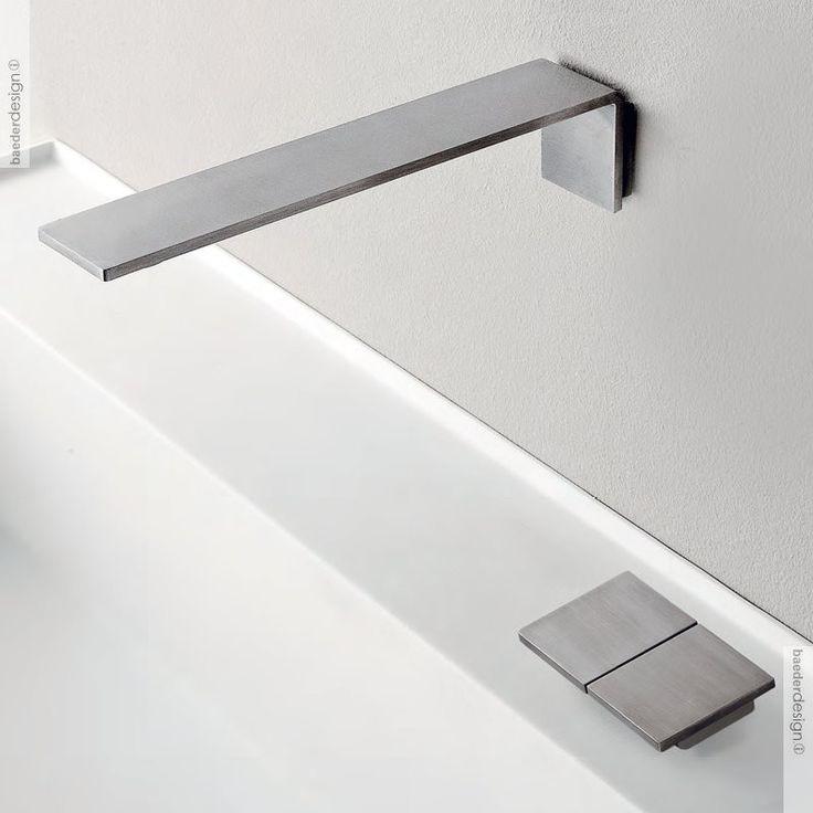 zweigriff tischmischer 5mm mit wandauslauf edelstahl geb rstet. Black Bedroom Furniture Sets. Home Design Ideas