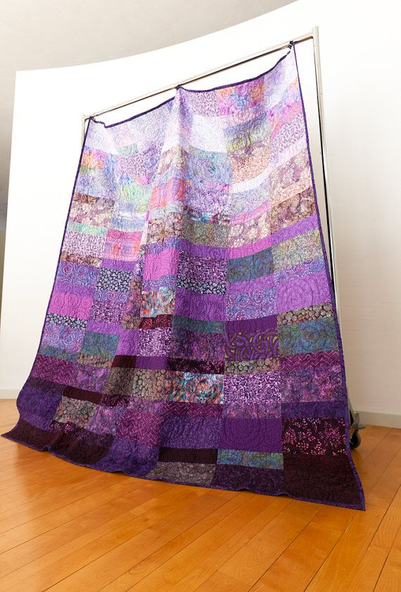 PURPLE!!   Quilt queen size Amethyst Crown made to order by btaylorquilts