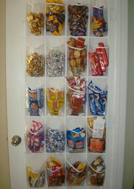 This was listed as a snack idea, but I think it's a cool party idea.  Candy wall, instead of candy bar!