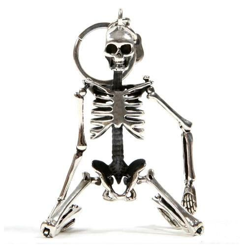 """""""Mr. Bones"""" Poseable Skeleton Key Chain"""