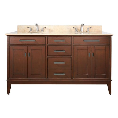 Madison 60 Inch Vanity Only In Tobacco Finish Avanity Vanities Bathroom Vanities Bathroom