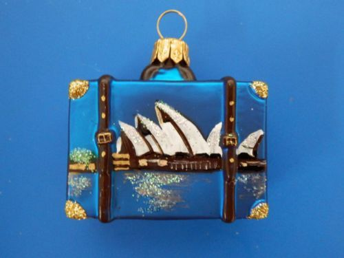 Australia Vacation Suitcase Luggage Trunk Glass Christmas Ornament | eBay