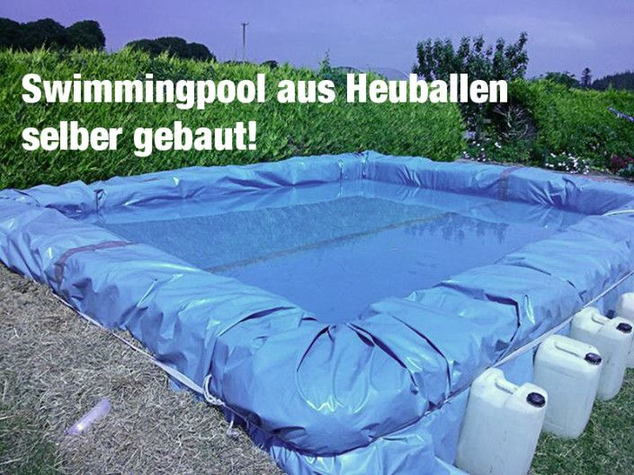 diy swimmingpool aus strohballen selber bauen teich und co pinterest strohballen selber. Black Bedroom Furniture Sets. Home Design Ideas